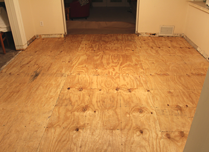 Subfloor Replacement